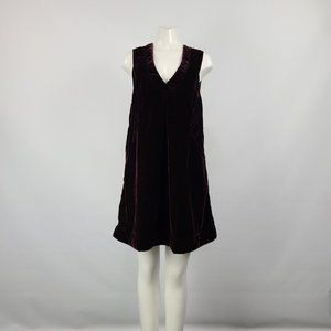 April Cornell Cranberry Velvet Dress Size XS